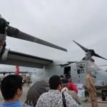 オスプレイの内部画像・動画!沖縄普天間基地で撮影!